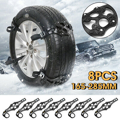8x Winter Snow Tire Chain Car Truck Wheel Driving Safety Anti-skid Belt Strap