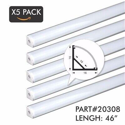 X5 Pack 46 4ft. Aluminum Profilechannel For Led Striptape Light Corner Mount