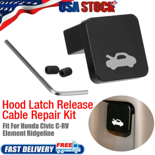 Hood Latch Release Handle Latch Cable Kit for Honda Civic CRV Element Ridgeline
