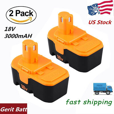 3 0Ah Replace For Ryobi 18V Battery Nimh One P100 P101 Plus Abp1801 Abp1803 Tool