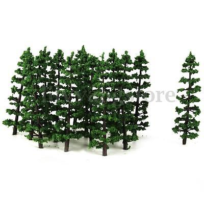"20pcs 3.5"" 1:100 Fir Trees Model Train Railway Forest Street Scenery Layout HO N"