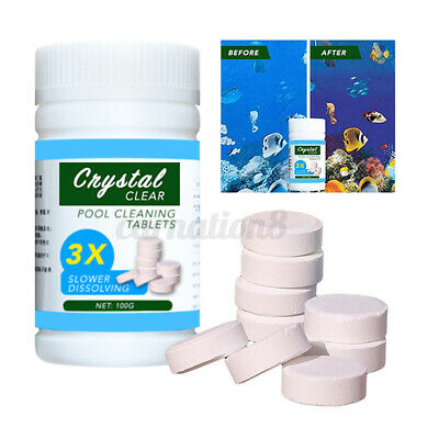 100G Swimming Pool Cleaning Tablets Tools Sterilizes Chemical Dispenser Cleaner