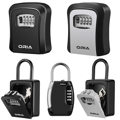4-digit Combination Key Lock Storage Safe Security Boxwall Mountedpadlock