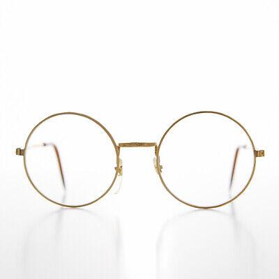 Klein Erwachsene Gold Rund John Lennon Rahmen mit Klar Linse Balance - Yale