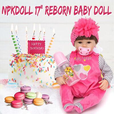 17'' Handmade Reborn Baby Toy Newborn Lifelike Silicone Viny