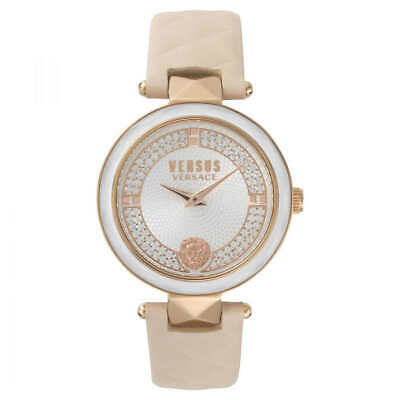 Versace Versus VSPCD5018 Women's Crystal Accented Rose Gold Tone Watch NEW ❤