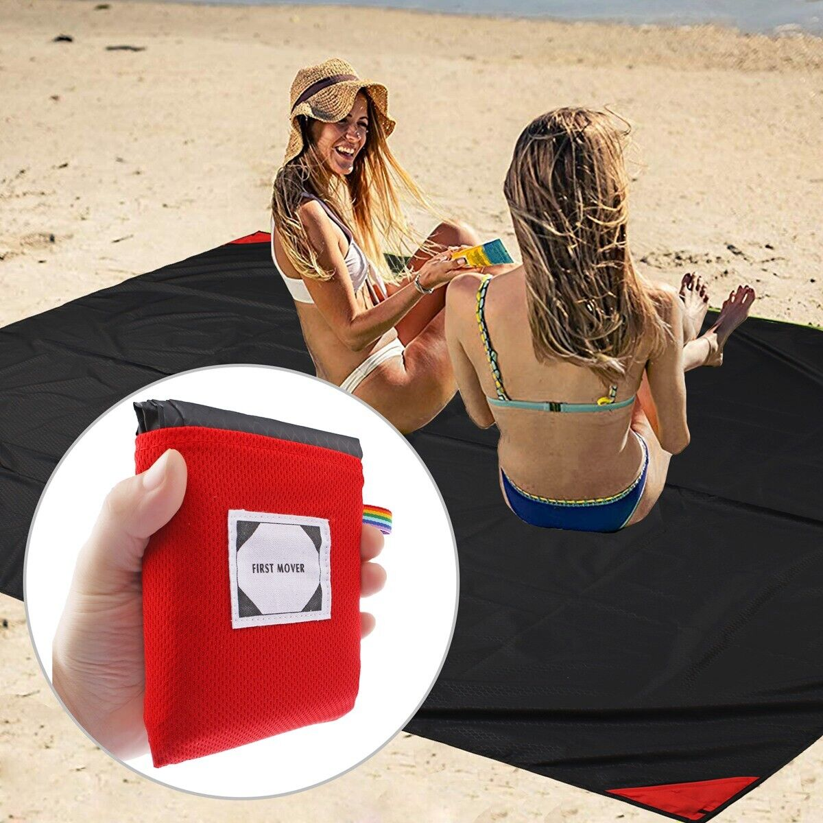 Outdoor Pocket Picnic Blanket Waterproof Beach Mat Camping T