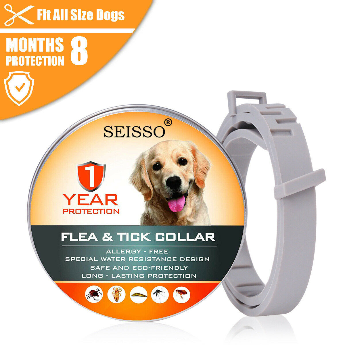 Flea and Tick Collar for Dogs Pets With Adjustable Waterproo
