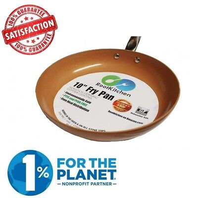 Home Icon Copper Chef 10 inch Frying Pan Non Stick Ceramic Coating Kitchenware