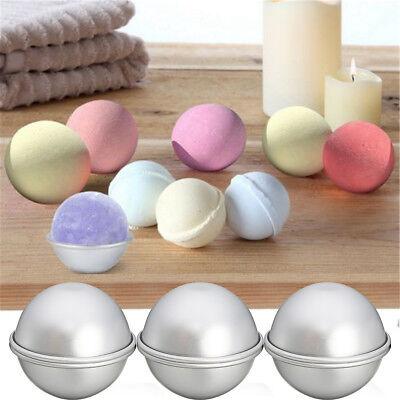 6pcs DIY Meta Bath Bomb Mold Alloy Bomb Balls Molds Molds Crafting UK