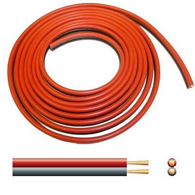 15A Automotive DC Power Cable - Twin Core Figure '8' 12V Black/Red - per 2 metre