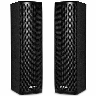 2pcs of 2000W Bi-Amplified Bluetooth Speakers of PA System w