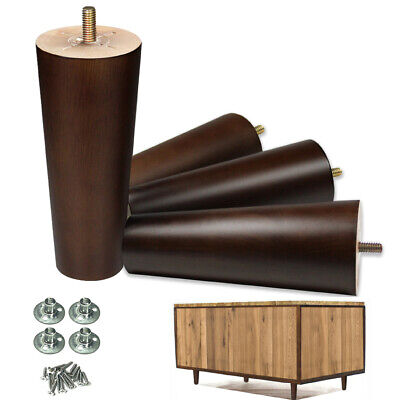 Furniture Legs 6'' Wood Legs for Sofa Couch Ottoman Loveseat