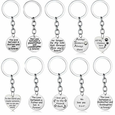 Mom Keychain - Gifts For Her Mom Dad Sister Daughter Son Family Presents Keychain Keyring Charm