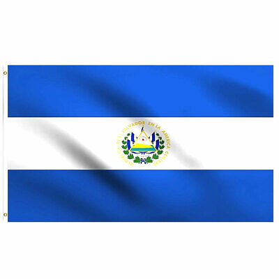 Salvadoran Flag 3×5 Polyester Indoor Outdoor Flag EL Salvador House Banner Décor