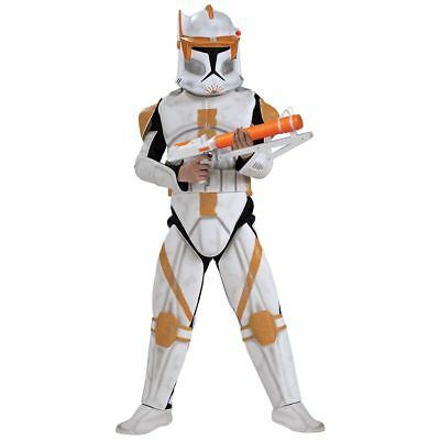 Clone Trooper Commander Cody Kostüme (NWT Deluxe Star Wars Clone Trooper Commander Cody Child Costume - Medium 883207)