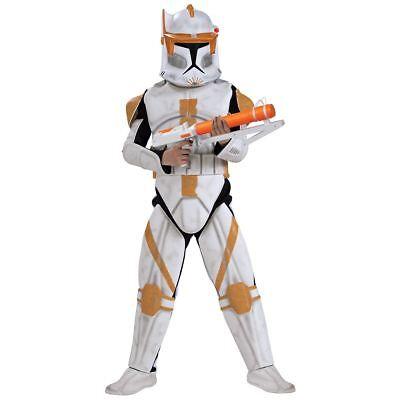 Commander Cody Kostüme Star Wars (NWT Deluxe Star Wars Clone Trooper Commander Cody Child Costume - Medium 883207)