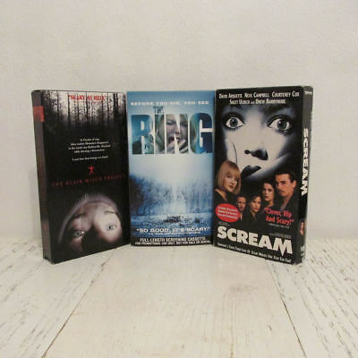 3 HORROR SCARY MOVIES ~ Blair Witch ~ Ring ~ Scream ~ Just in Time for Halloween - Scary Screams For Halloween
