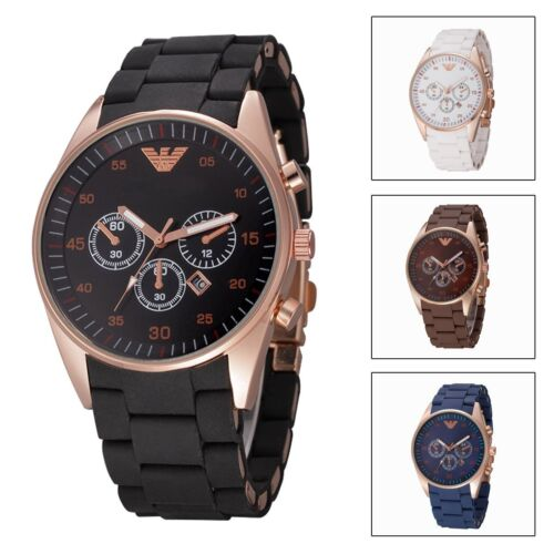 Watch Analog Silicone Wristwatch Fashion Business Men's Casual Quartz