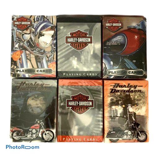 Vintage 1998 1999 2003 Harley Davidson Deck Playing Cards Sealed Lot of 6 New