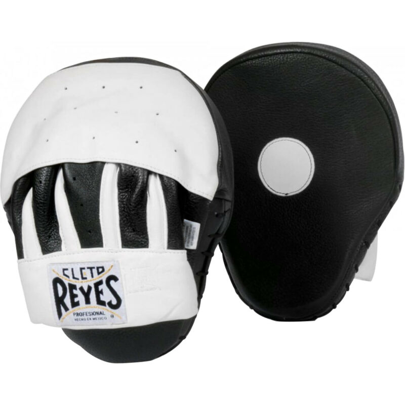Cleto Reyes Leather Curved Punch Mitts - Black/White