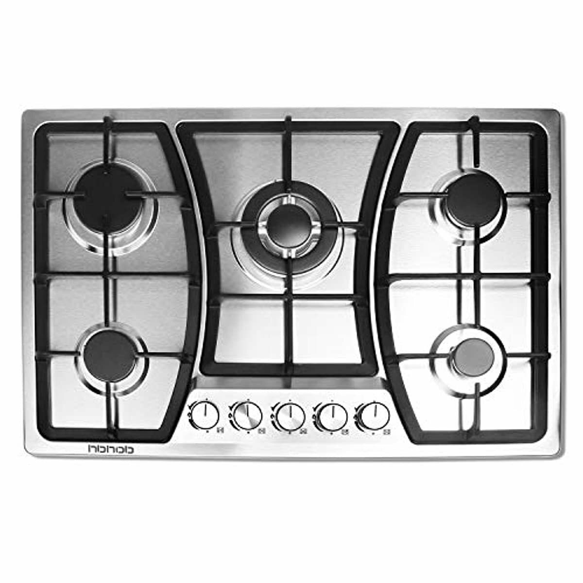 30 Inches Gas Stove Stainless Oven 5 Sealed Burner Top Cook