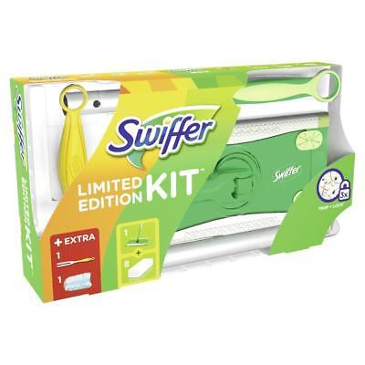 Swiffer Starter Set Bodenwischer+8 Tücher+12 feuchte Tücher WET + Staubmagnet