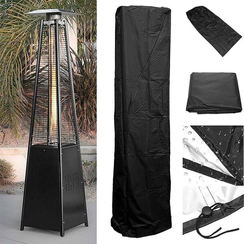 Waterproof Gas Pyramid Patio Heater Cover Garden Outdoor Fur