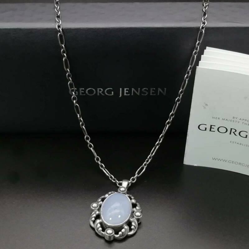 Georg Jensen Necklace Pendant 2018 Sterling Silver Denmark Jewelry #13652