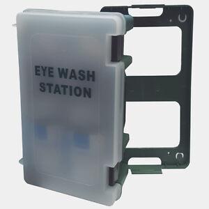 Wall Mount Emergency Eyewash Station Click Off Carry Case First Aid Eye Wash Kit