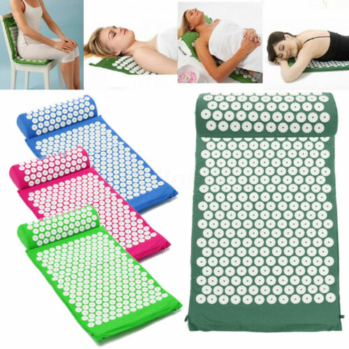 Acupressure Mat with Pillow Set Back Neck Pain Stress Muscle Relaxation US Acupuncture