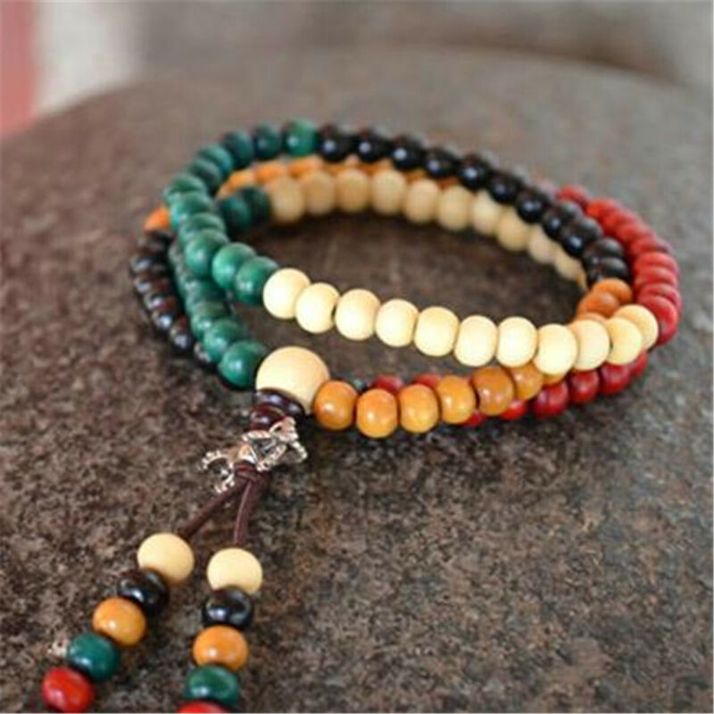 108 Prayer Beads 6mm Sandalwood Buddhist Buddha Prayer Round Beads Mala Bracelet