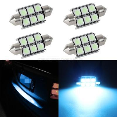4x Ice Blue Canbus 36mm Error Free License Plate Light Bulb for MERCEDES-BENZ