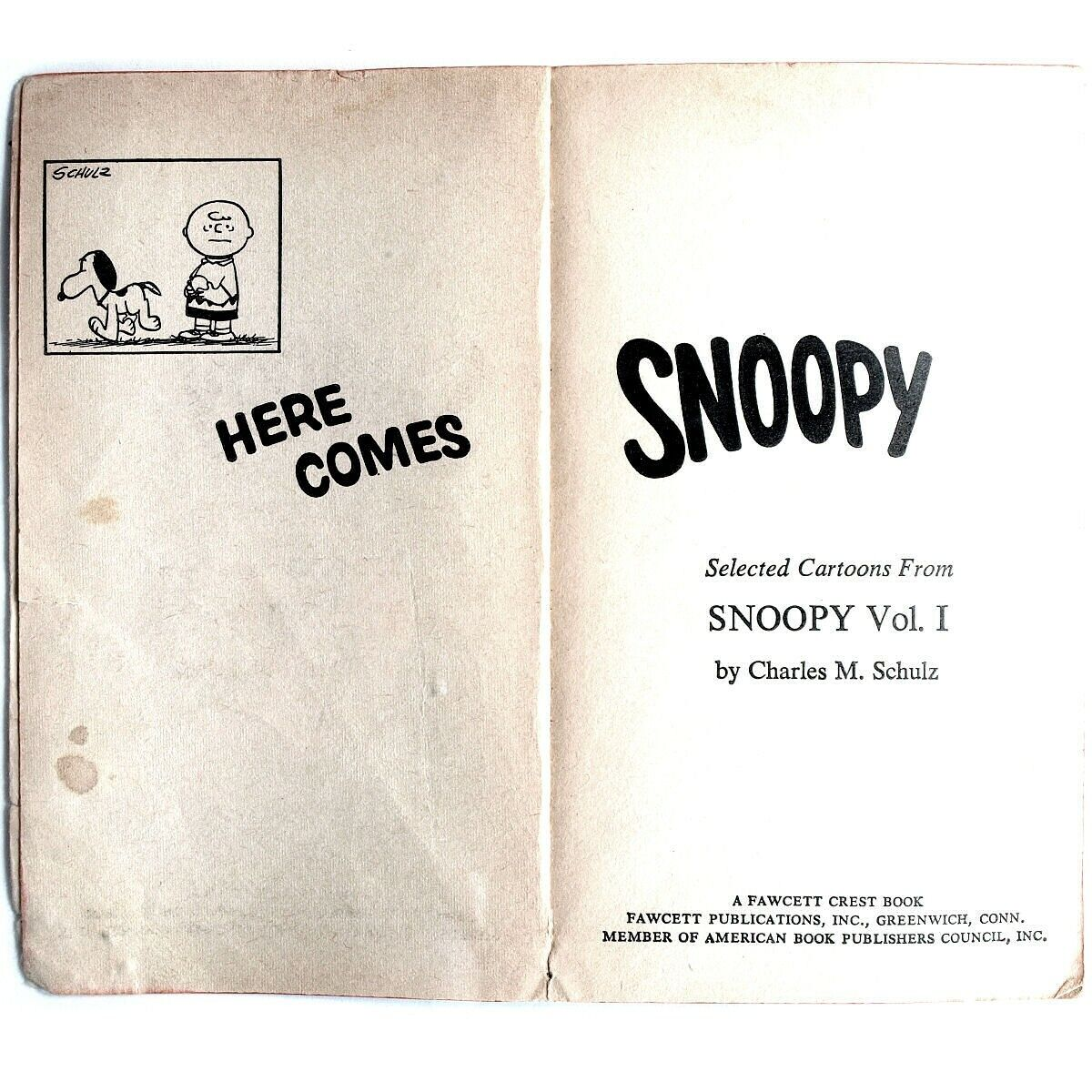 Here Comes Snoopy By Charles M. Schulz 1966 Paperback, Acceptable  - $5.00