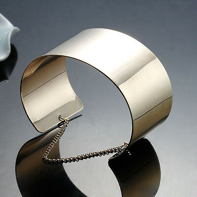 SEXY SPARKLES Sexy Sparkles Women Wide Cuff Bangles Bracelet Gold Plated 16.2cm( Bracelets