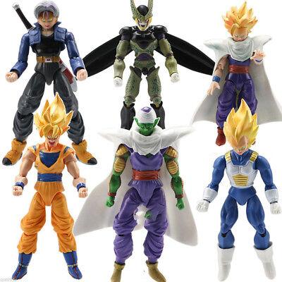 6PCS Dragonball Z Dragon Ball DBZ Goku Action Figure Toy Anime Piccolo Set US