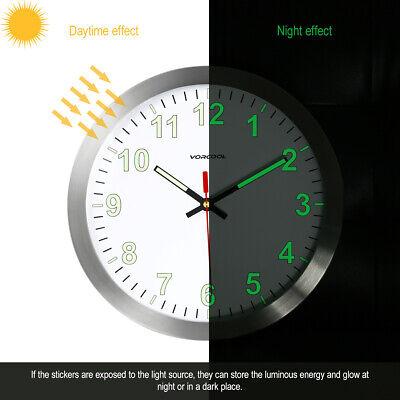 Wanduhr Wunderschöne LED Uhr Analog rund Quarzuhr Designuhr Rund 30cm DHL