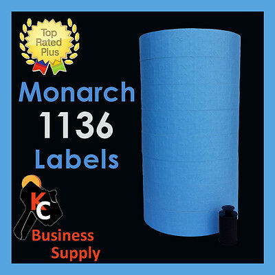 Monarch 1136 price gun labels BLUE, ink roller included - two line price labels ()
