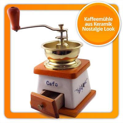 HOLZ Kaffeemühle Nostalgie mit Keramik-Mahlwerk