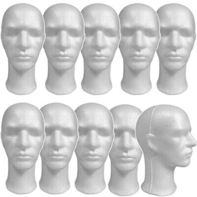 Less Than Perfect Mn-256-ltp 10 Pcs Male Styrofoam Mannequin Head With Long Neck