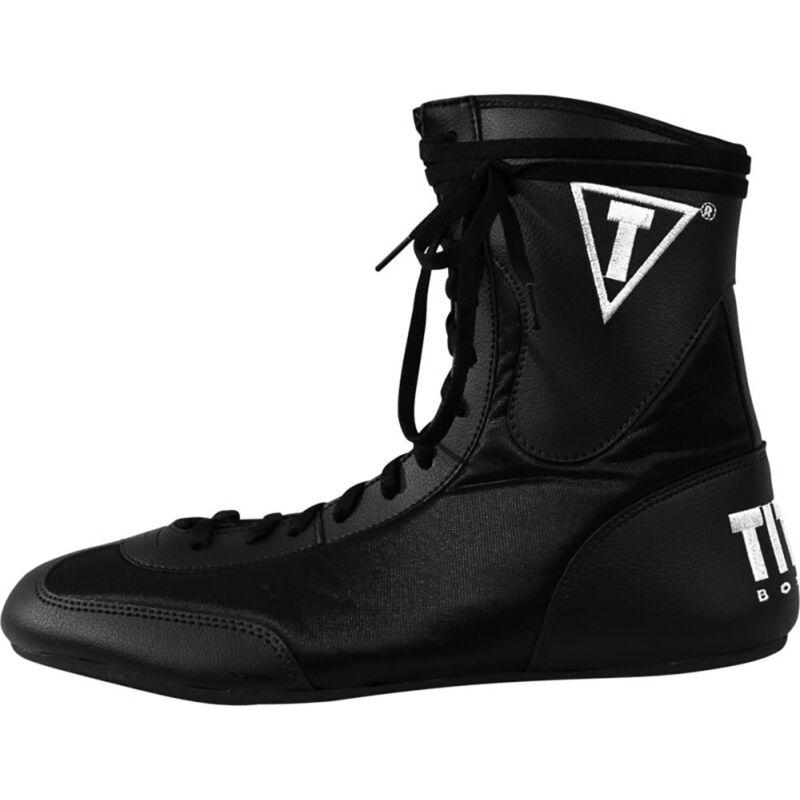 Title Boxing Speed-Flex Encore Mid-Length Boxing Shoes - Black
