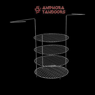 Amphora Tandoor Тандыр Tandoori Tandyr Grillgitter Grillrost Rost 4 lagig groß