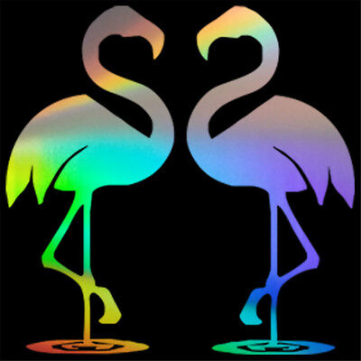Funny Flamingo Couple Car Vinyl Sticker Window Laptop Wall Bumper  Door Decal