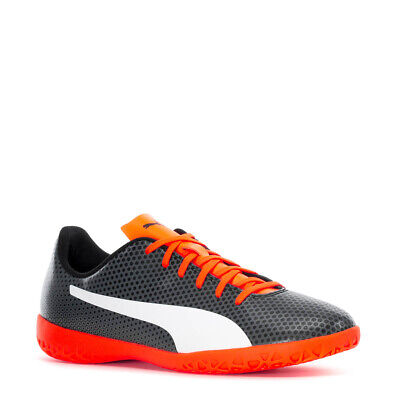 PUMA SPIRIT IT INDOOR SOCCER SPORTS SNEAKERS MEN SHOES BLACK/ORAGE SIZE 13 NEW