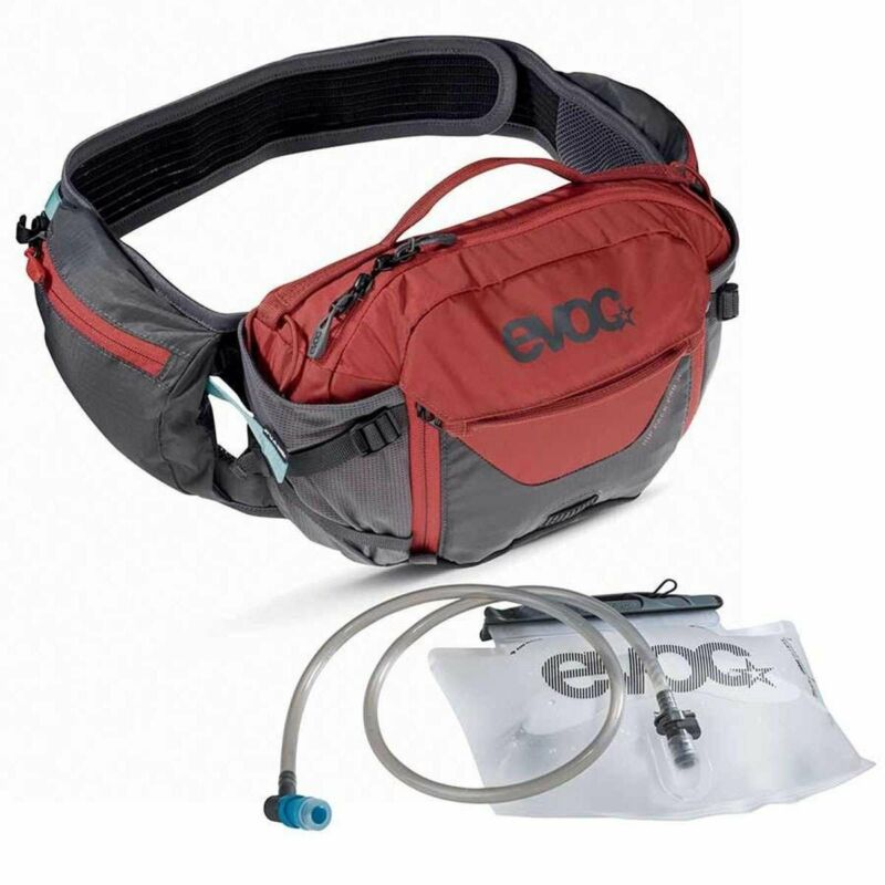 Evoc Hip Pack Pro 3L + 1.5L Bladder Carbon Grey/Chili Red Bag