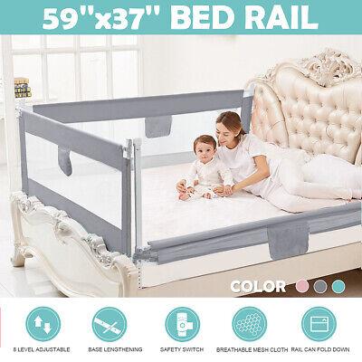 1.5M Adjustable Kids Infant Bed Guard Rail Toddler Baby Safety Barrier Protect