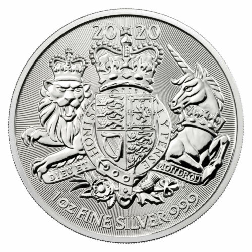 2020 Great Britain 1 oz Silver Royal Coat of Arms £2 Coin GEM BU SKU60667