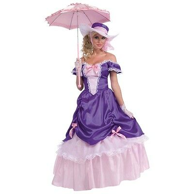 Belle Costume Womens (Blossom Southern Belle Costume Halloween Fancy)