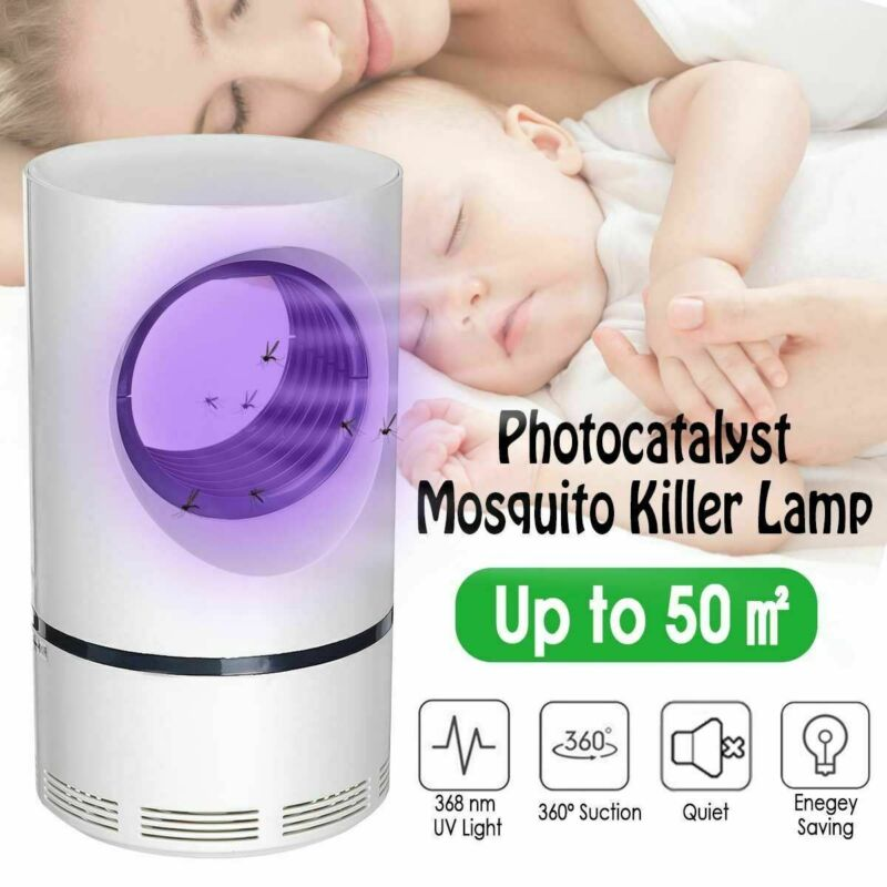 Mosquito Insect Killer Electric Fly Bug Zapper LED UV Light Trap Lamp Catcher UK