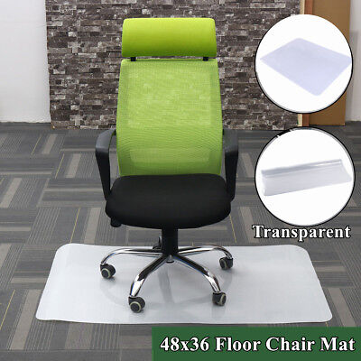 Desk Chair Mat Hard Wood Laminate Floor Protector PVC Plastic Home Office Square